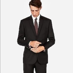 Express Slim Black 100% Wool Suit Jacket